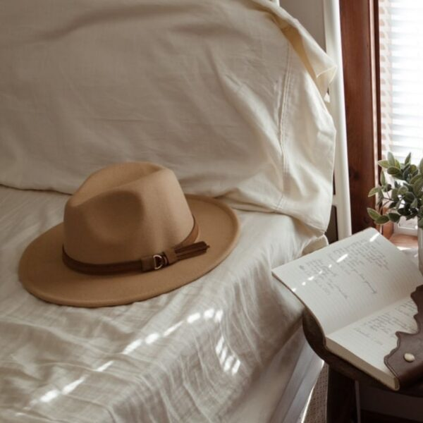 Cowboy Hat on Bed